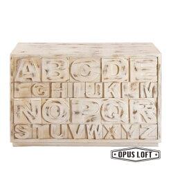 LOFT復古工業風 刷白 創意字母櫃