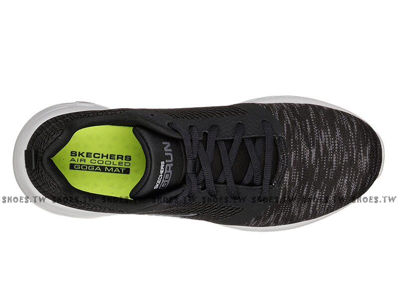 Shoestw【55081BKGY】SKECHERS GO RUN 600 慢跑鞋 瑜珈鞋墊 雪花黑 網布 男生尺寸 3
