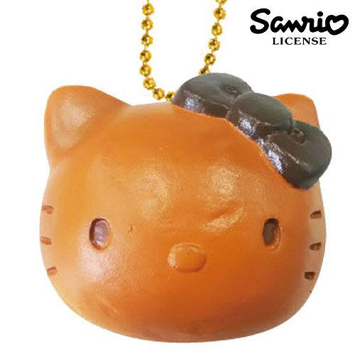 原味款【日本進口正版】凱蒂貓 HelloKitty 麵包 捏捏吊飾 捏捏樂 美食 軟軟 三麗鷗 - 611451