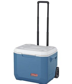 【露營趣】 中和 美國 Coleman 47L Xtreme冷冽藍拖輪冰箱 冰桶 行動冰箱 CM-3087