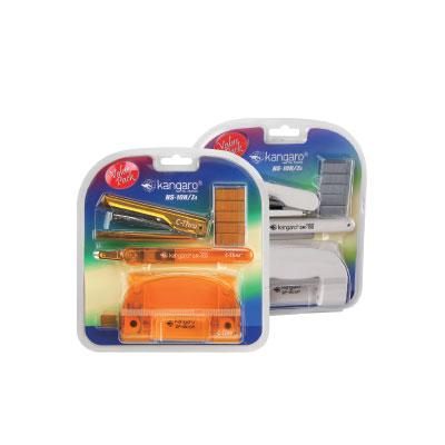 袋鼠 kangaro HS 10 H/Z4 釘書機+針+打孔機+除針器 / 組(顏色隨機出貨)