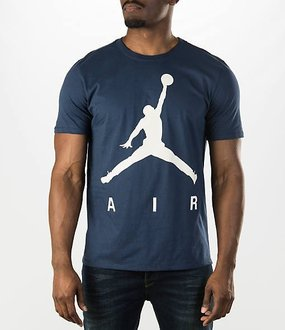 BEETLE NIKE AIR JORDAN JUMPMAN 深藍 白 大飛人 LOGO 經典 喬丹 TEE 短T