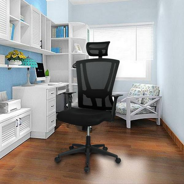 Ergonomic Office Swivel Chair Mesh Padded Seat Adjustable Chair 0