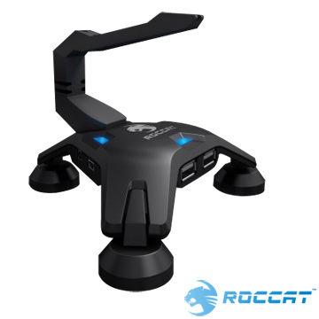 ~新風尚潮流~德國ROCCAT Apuri USB Hub 冷光投射可拆卸滑鼠線夾免 Ap