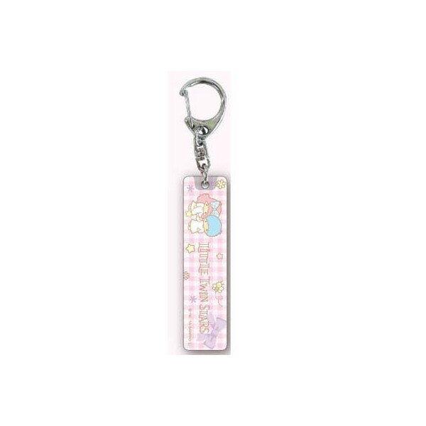 【真愛日本】15061600012 壓克力鎖圈-TS紫緞帶粉 三麗鷗家族 Kikilala 雙子星 吊飾 飾品 鑰匙圈 正品 限量 預購