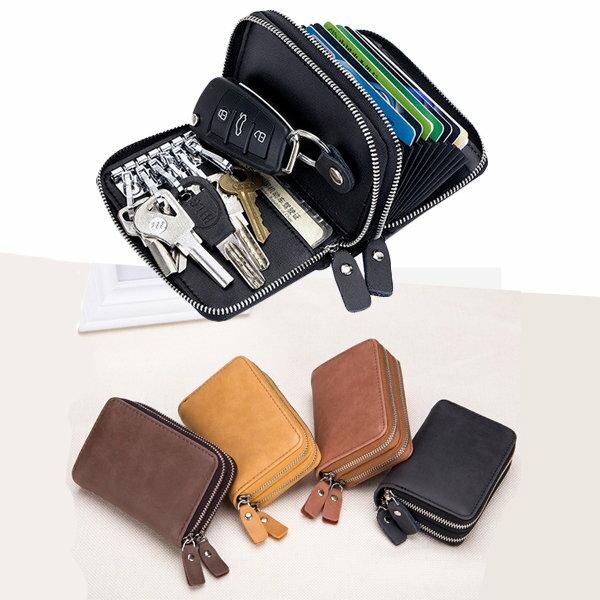 BOBI:短夾雙層拉鍊風琴卡包零錢包鑰匙包短夾【CL6639】BOBI0104