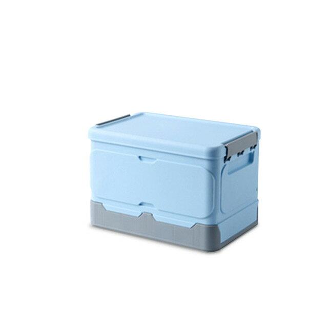 掀蓋式/塑膠箱/置物箱 巧拼摺疊收納箱3入(小) 兩色可選 dayneeds
