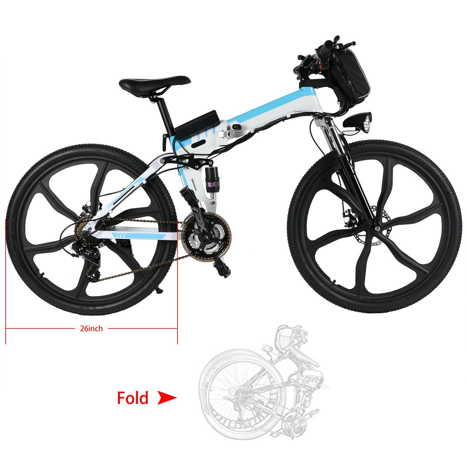 26inch 21 Speed Foldable Electric Power Mountain Bicycle Lithium-Ion Battery 3