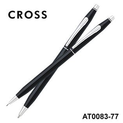 CROSS高仕ClassicCentury經典世紀系列AT0083-77黑亮漆原子筆+自動鉛筆組