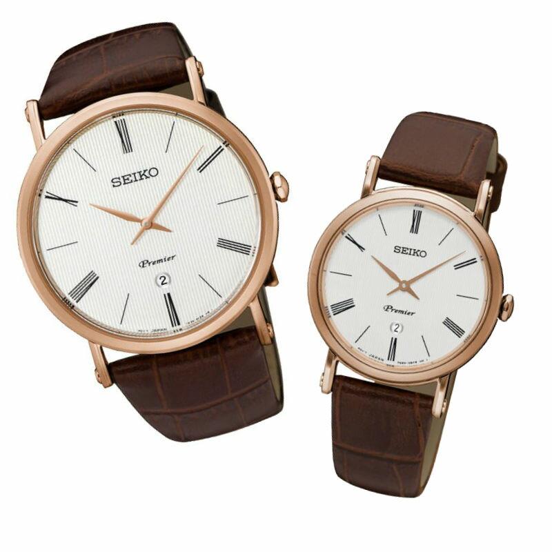 Seiko 精工錶 7N39-0CA0J(SKP398J1)+7N89-0AY0J(SXB436J1)纖薄羅馬對腕錶 / 白面41+31mm - 限時優惠好康折扣