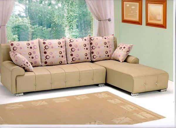 【尚品傢俱】610-03 多莉亞乳膠皮L型獨立筒沙發~台灣製造~台中市部分免運