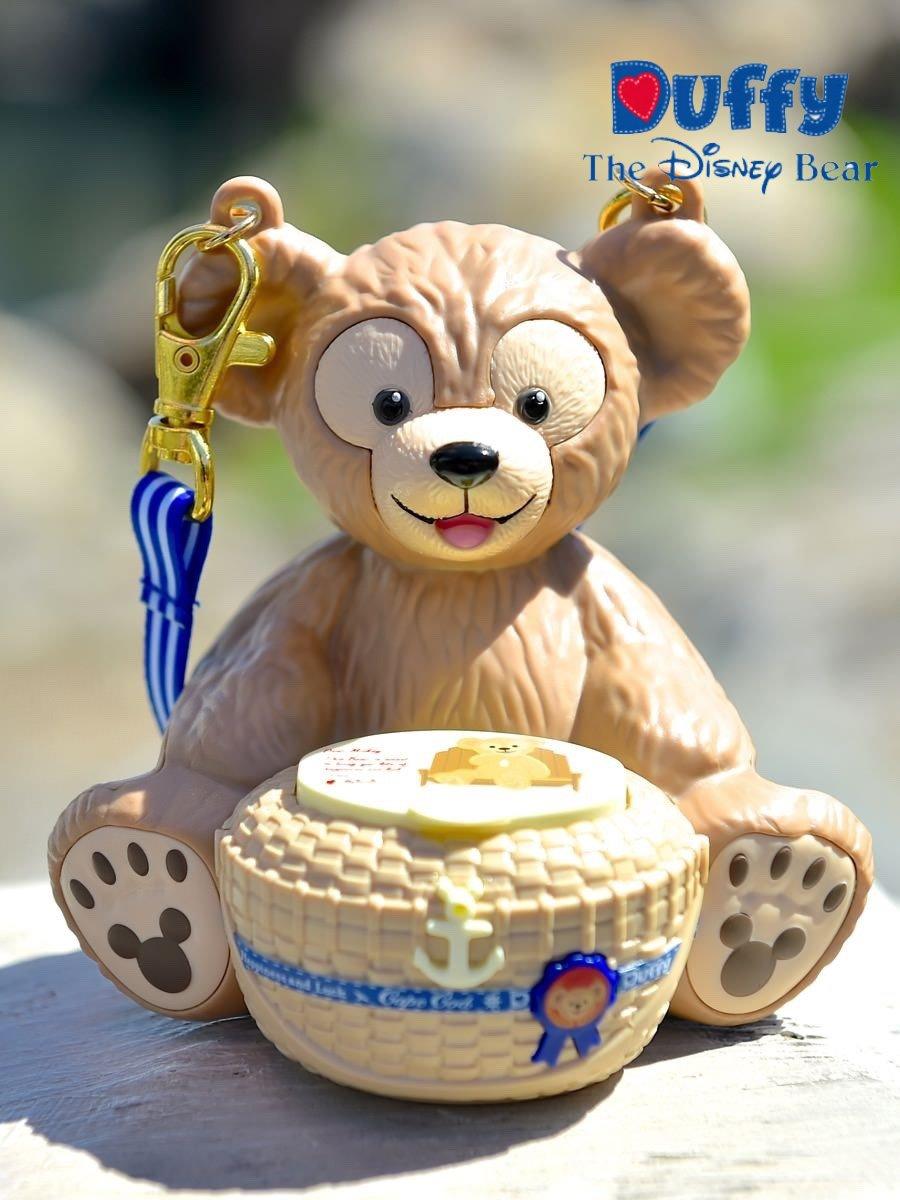 【真愛日本】15091000028 樂園造型糖果罐附掛繩-達菲抱竹籃 雪莉玫 Duffy 達菲熊&ShellieMay 收納罐 日本帶回