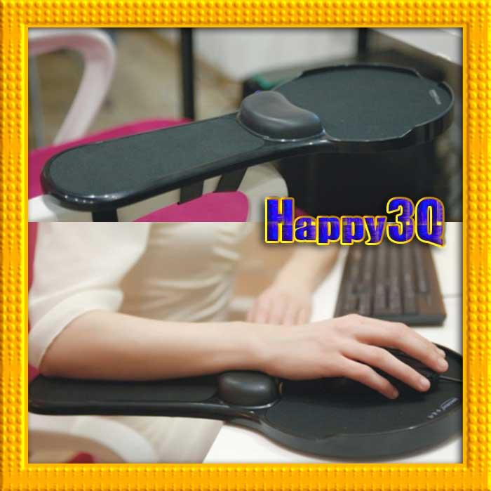 電腦桌電腦椅兩用安裝簡單調整坐姿自由旋轉手臂不懸空柔軟舒適護腕護手神器托手架滑鼠墊-紅/黑【AAA0731】