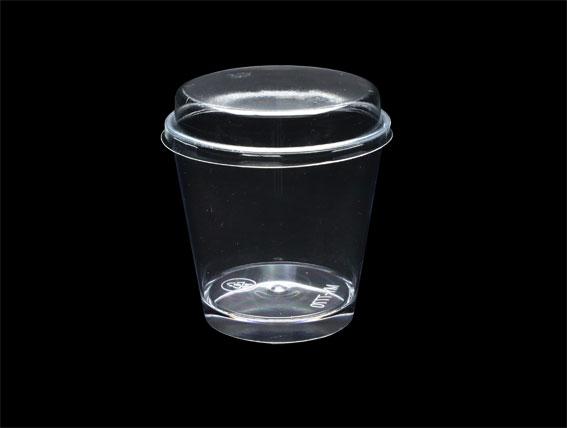 【B7770】慕斯杯、奶酪杯、甜品杯、布丁杯、大圓杯(白Les)(25個含透明蓋)