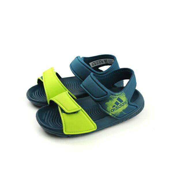 adidas AltaSwim I 涼鞋 防水 雨天 好穿 舒適 童鞋 綠色 小童 BY2617 no444