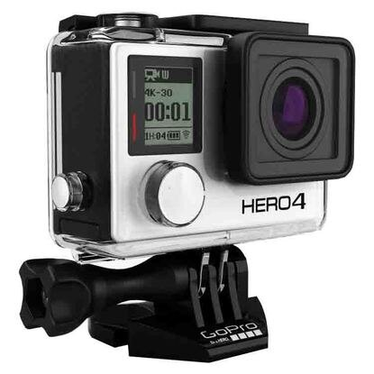 GoPro Hero 4 Silver Edition 4K Action Camera Waterproof with LCD Touchscreen - Refurbished