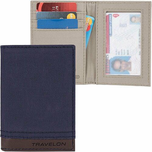 《TRAVELON》Courier帆布防護卡片證件夾(藍)