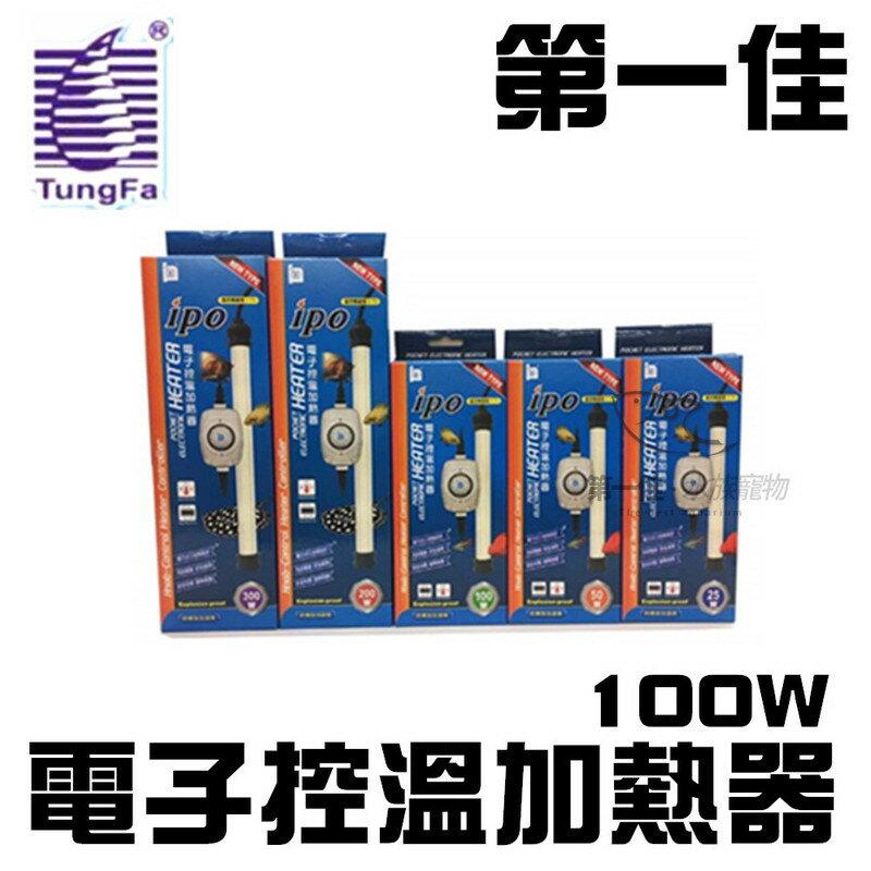 [第一佳 水族寵物] 台灣T&F同發 IPO新型 電子控溫加熱器100W 保溫器 加溫棒 加熱器 加熱管 E-IP-100
