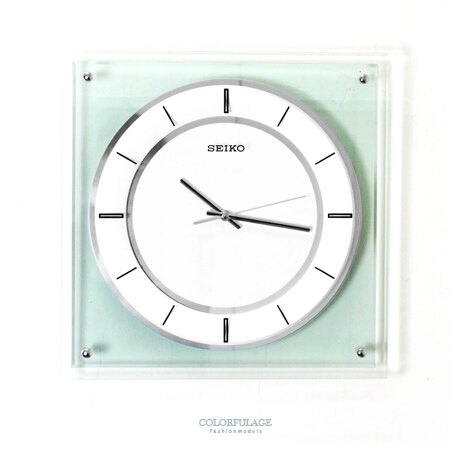 SEIKO精工時鐘  感透明相框概念 掛鐘 滑動式靜音秒針 柒彩年代~NG1734~ 貨