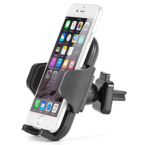 "iKross Lock Clip Air Vent Mount, Universal Air Vent Vehicle Mount Cradle Holder for Smartphone 4-6""/GPS devices, Apple iPhone X, 8/8 Plus, 7/7 Plus, Samsung S8/S8+ and More 8ee0be3fdcf16a611a92cb5241a71206"