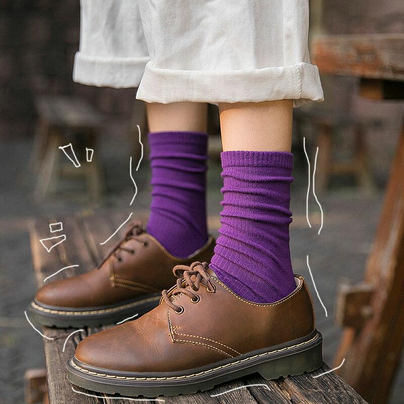 台灣現貨 堆堆襪 日系 長襪 純色 針織襪 韓系 少女襪 百搭 四季 網紅 網美 中筒襪 復古 糖果色 襪子 長筒襪 4