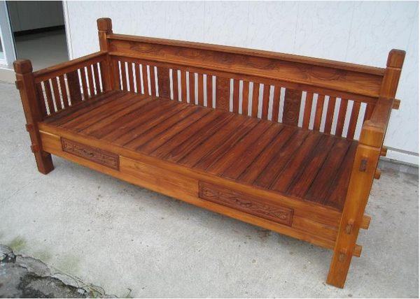 【石川家居】UG-02 柚木羅漢椅 躺椅 休閒椅 全實木 質感佳