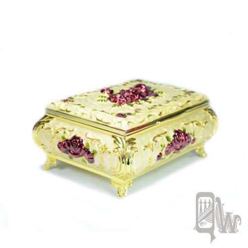 【Barocco Nuts】[珠寶盒]首飾盒:珠光酒紅 小尺寸 浮雕 玫瑰花語 收納盒-法式女王 貴族名媛 飾品(項鍊/戒指/耳環)