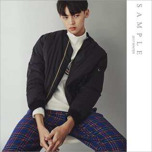 sample:現貨韓國製夾克MA1短版厚綿【OB19413】-SAMPLE