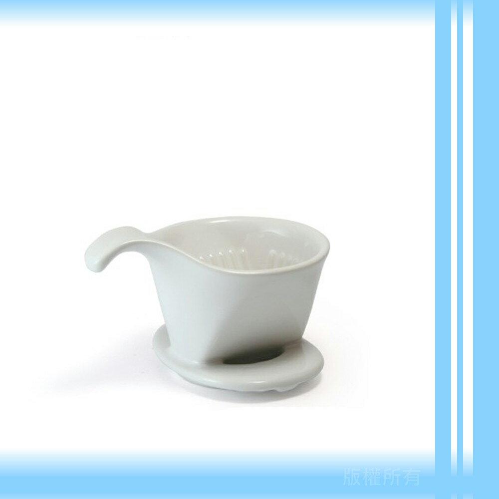 【日本】ZERO JAPAN 101系列素雅陶瓷雙孔咖啡濾杯(簡約白)