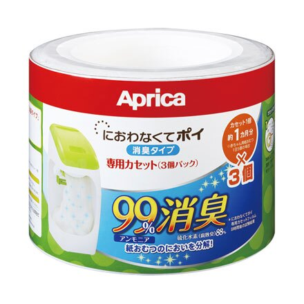 【悅兒樂婦幼用品?】Aprica 愛普力卡 專利除臭抗菌尿布處理器-專用替換用膠捲 (3入)