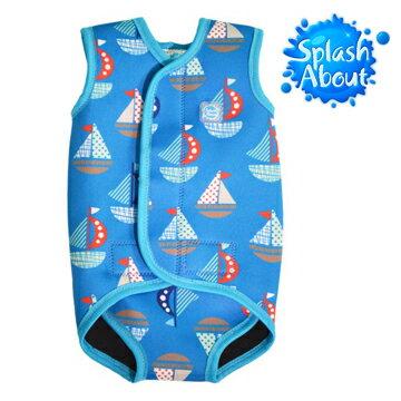 ~Splash About 潑寶~BabyWrap 包裹式保暖泳衣 ~ 普普風帆船