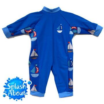 《Splash About 潑寶》UV All in One 嬰兒抗 UV 連身泳衣 - 普普風帆船