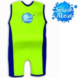 《Splash About 潑寶》Combie 「小衝浪家」兒童防寒泳裝 - 螢光綠 / 寶藍