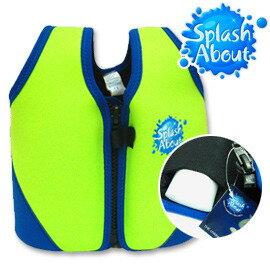 《Splash About 潑寶》Float Jacket 兒童浮力夾克 - 螢光綠 / 寶藍