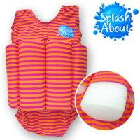 樂天線上婦幼展-點數最高15倍送 媽咪用品推薦《Splash About 潑寶》FloatSuit 兒童浮力泳衣 - 芒果橘條紋外出 - 用品kids003