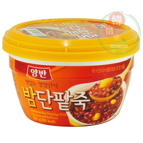 【韓購網】韓國東遠栗子紅豆粥285g★從頭燉煮,味道香濃★DONGWON速食粥韓國食品料理