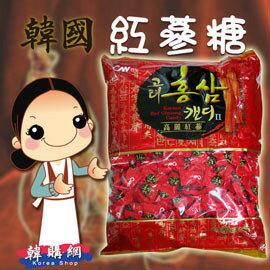 【韓購網】韓國紅蔘糖900g(原裝進口)★紅蔘味十足、吃過的人都覺得不錯喔★韓國糖果紅蔘糖紅參糖人蔘糖人參糖