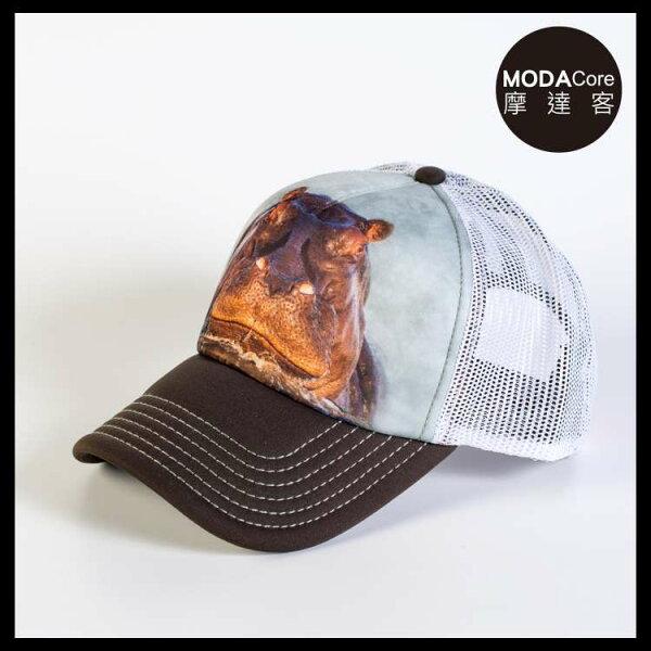 【摩達客】(預購)美國進口TheMountain泡澡河馬藝術棒球帽網帽5-Panel新五分割帽