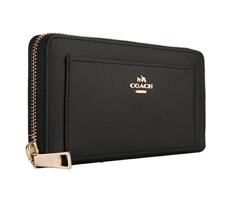 COACH F52648 美國正品質感防刮真皮拉鍊長夾女長款錢包拉鏈手拿包女士皮夾, 2