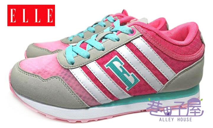 【巷子屋】ELLE 女款法式經典復古潮流運動慢跑鞋 記憶鞋墊 [60053] 粉桃 超值價$498