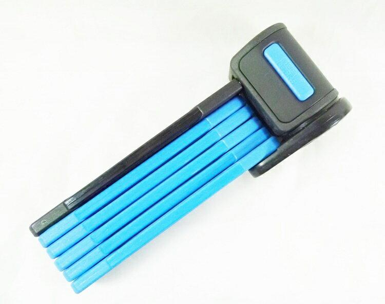 摺疊自行車鎖-藍色 不含鎖頭展開 75 公分