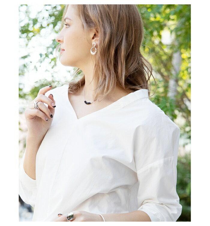 日本CREAM DOT  /  ピアス ドロップ ニッケルフリー 低アレルギー素材 ヴィンテージ調 加工 揺れる メタル マット ゴールド シルバー アクセサリー 上品 シンプル デイリー 女性 大人 レディース  /  qc0403  /  日本必買 日本樂天直送(1290) 5