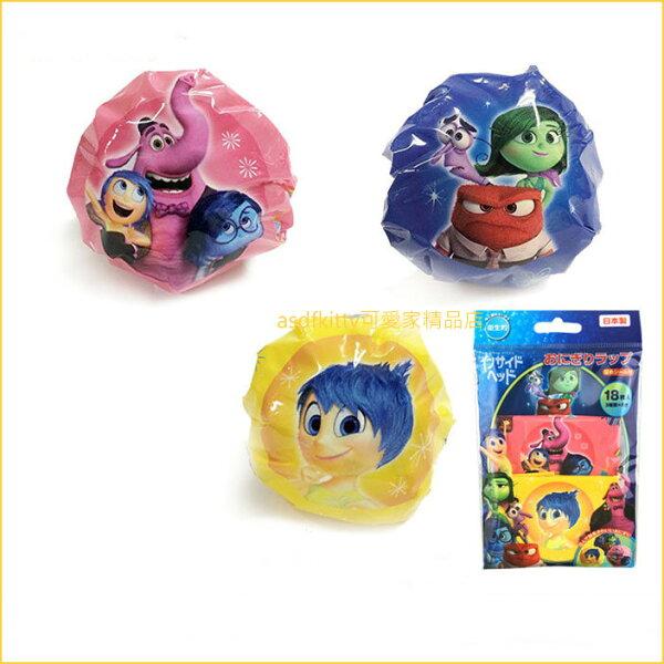 asdfkitty可愛家☆迪士尼腦筋急轉彎圓球飯糰包裝紙-方便拿取食用-可愛形狀刺激食慾-日本製