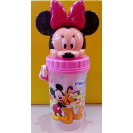 【淘氣寶寶】迪士尼 500造型水壺/水杯 米妮【保證原廠公司貨】