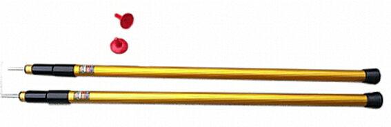 【露營趣】中和安坑 SCOODA 速可搭 2017改版 台製伸縮鋁管金箍棒 (2支一組)伸縮鋁管 伸縮營柱 天幕帳