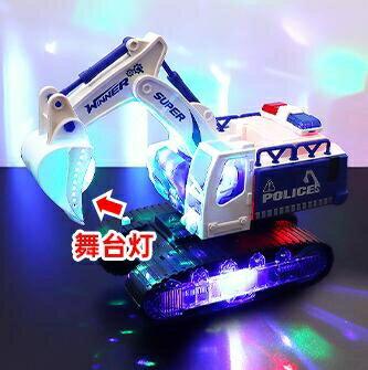 挖掘機玩具 兒童電動挖掘機玩具男孩閃光音樂玩具車電動萬向工程車挖土機