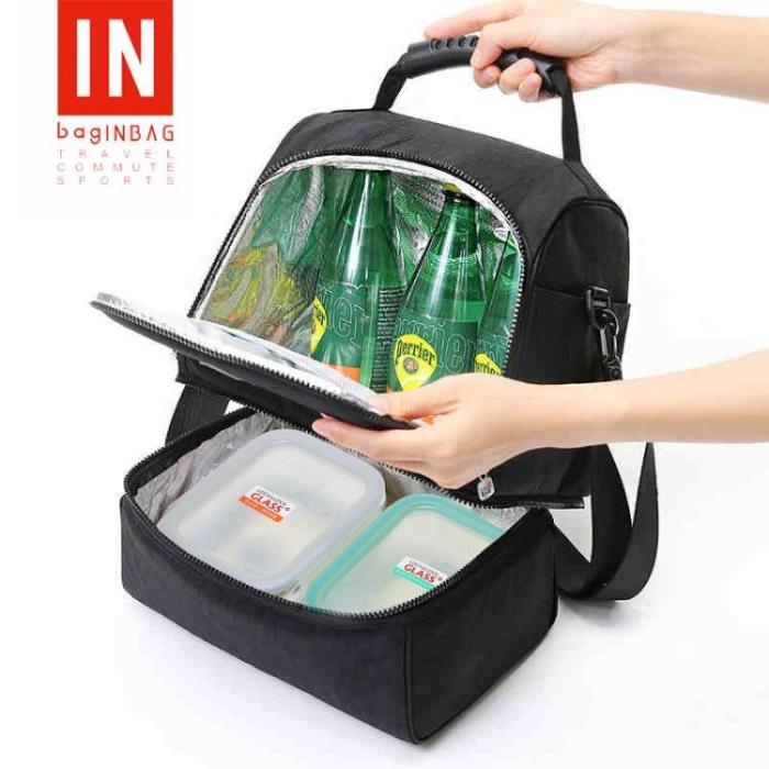 保冷袋 保溫袋加厚飯盒袋子便當包大號手提大容量鋁箔韓版可愛手拎午餐包