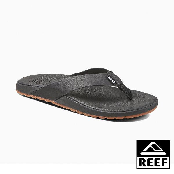 【新品9折↘】REEFSWELLULAR最適合亞洲人腳型高科技側邊縫製織帶舒適好穿防滑耐磨男款升級版夾腳拖人字拖鞋.黑RF0A32XNBLA