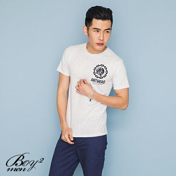 ☆BOY-2☆【JJ737】韓版潮流素面犀牛短袖T恤 3
