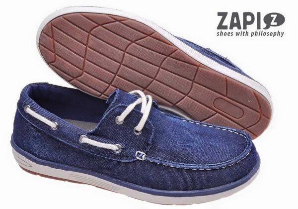 陽光運動館:ZAPI西班牙時尚品牌(男)時尚舒適百搭懶人鞋休閒鞋-SD422504法蘭克福歌德藍【陽光樂活】